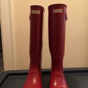 Red Hunter Rain boots
